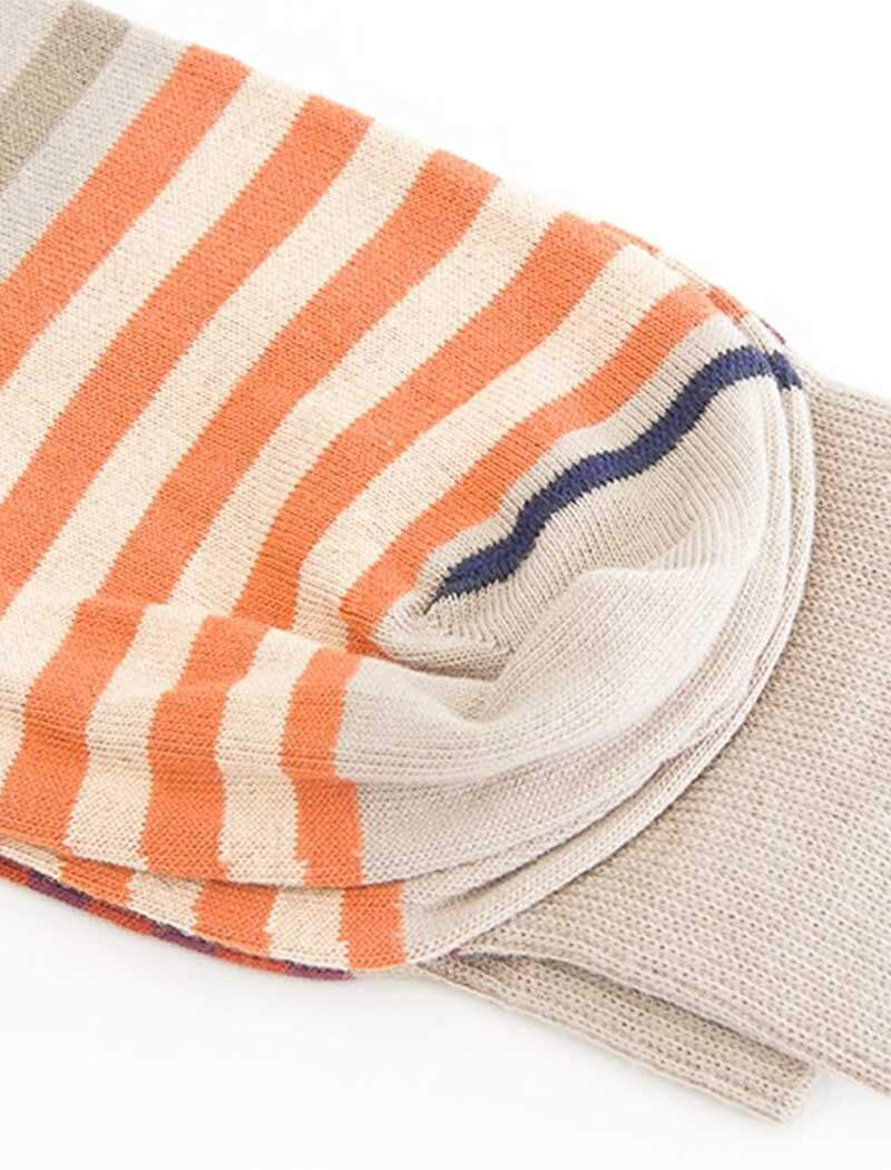 Brown Gradient Striped Organic Cotton Socks | 40 Colori
