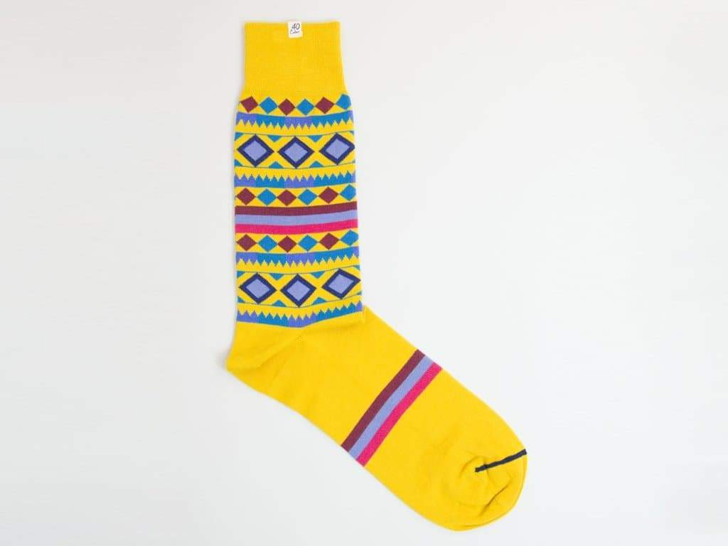 SHAPES AND STRIPES ORGANIC COTTON SOCKS
