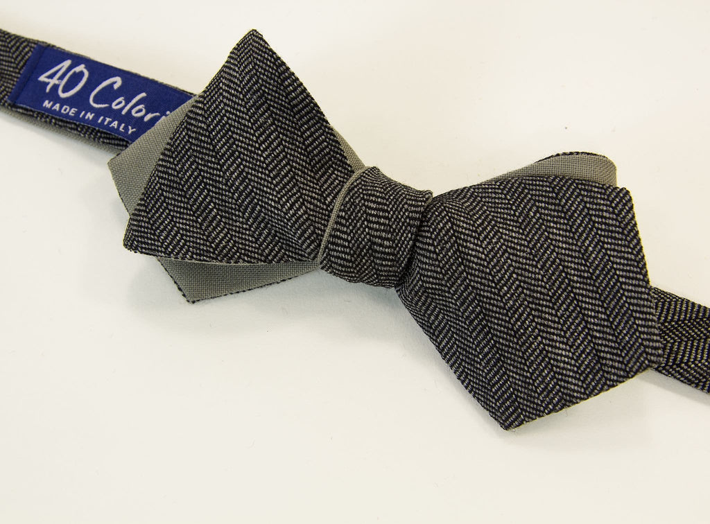 Herringbone Wool Spencer Bow Tie