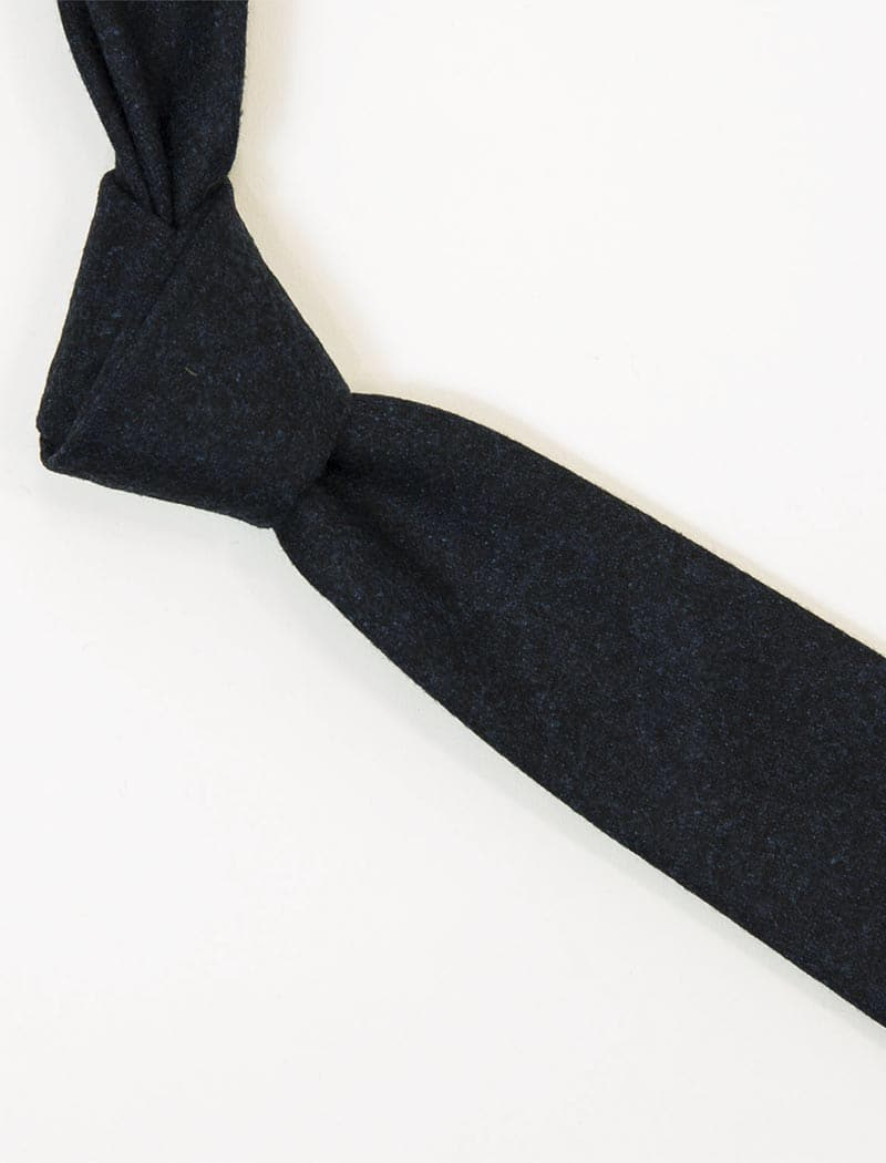 Navy Solid Wool Tie | 40 Colori