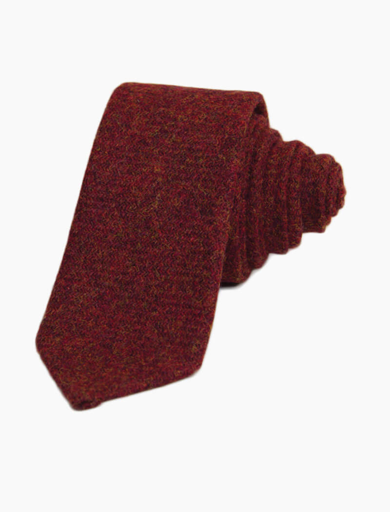 Red Solid Wool Tie | 40 Colori