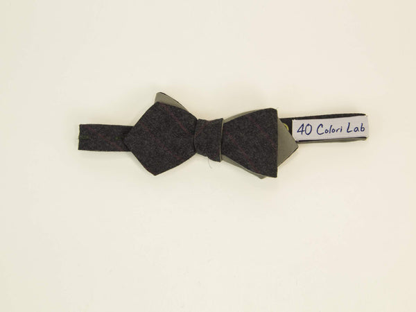 Thin Striped Wool Spencer Bow Tie
