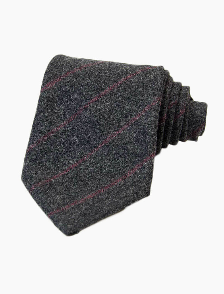 THIN STRIPED WOOL TIE