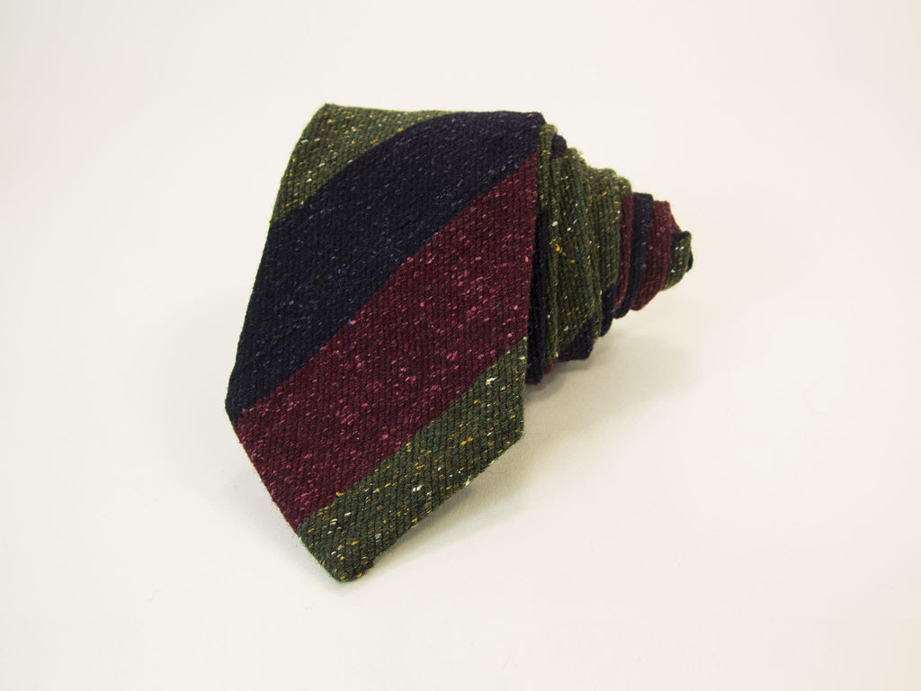 Striped Silk Textured Tie