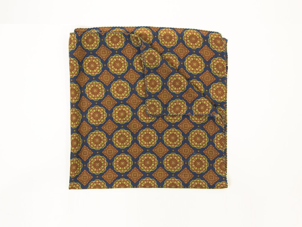 GEOMETRIC TILES WOOL POCKET SQUARE