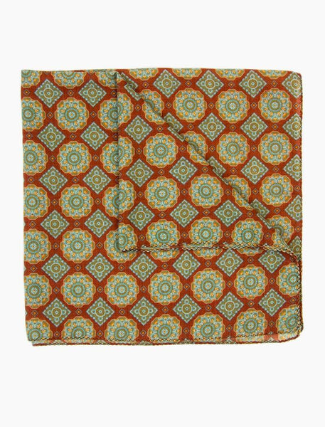 Geometric Tiles Wool Bandana