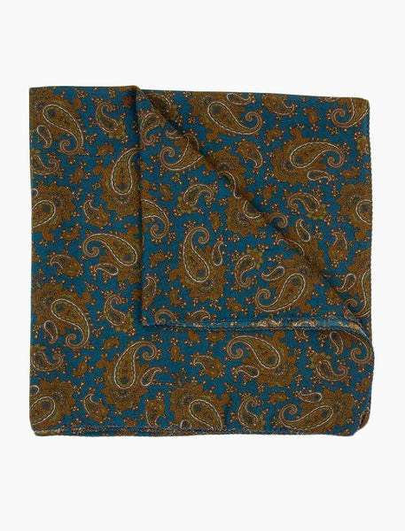 Antique Paisley Wool & Silk Bandana