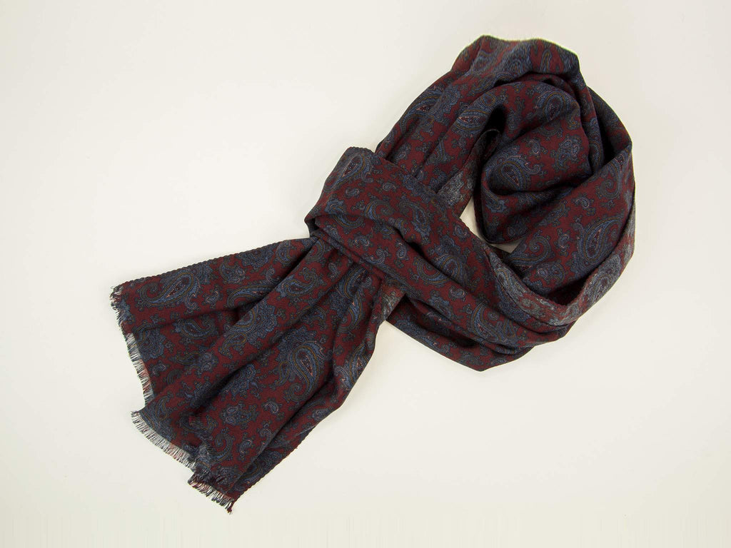 Antique Paisley Wool & Silk Scarf