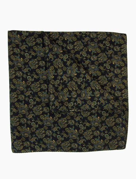 Small Antique Paisley Wool & Silk Bandana