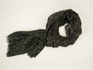 Small Antique Paisley Wool & Silk Scarf