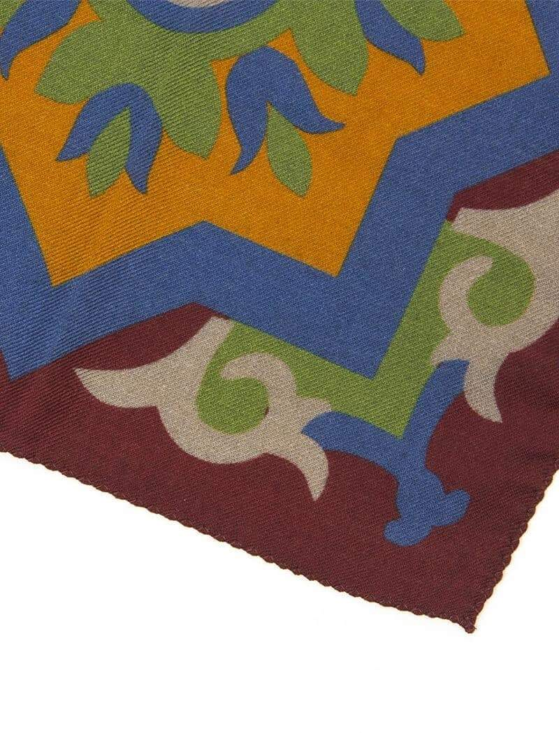 Burgundy Sicilian Ceramic Wool & Silk Bandana | 40 Colori
