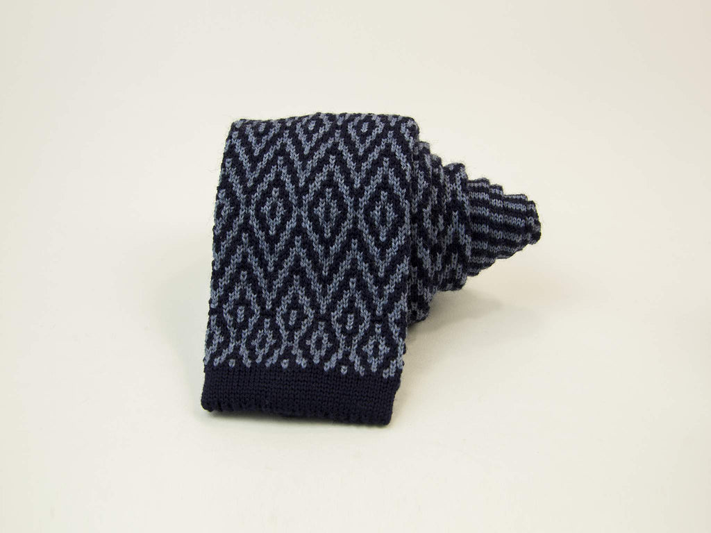 Diamonds Wool Jacquard Knitted Tie