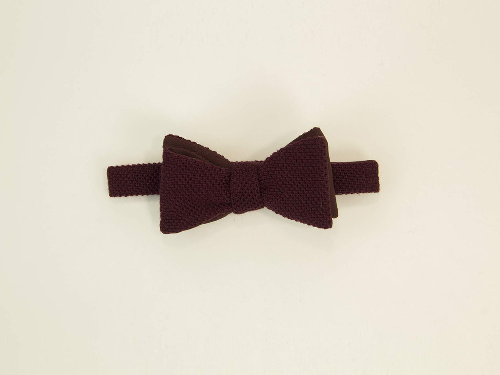Solid Wool Butterfly Bow Tie
