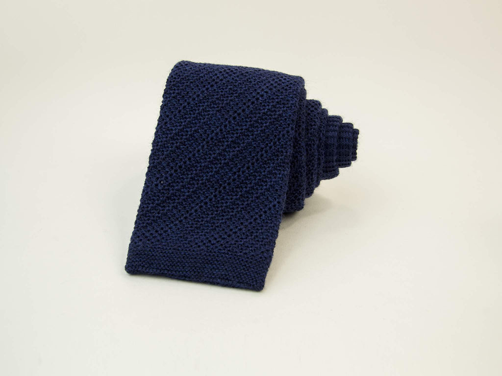 Solid Wool Knitted Tie