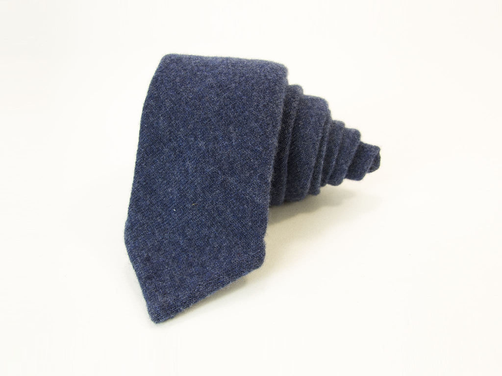 Solid Wool Knitted Fabric Tie