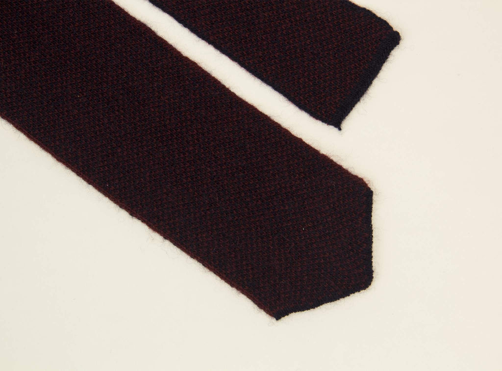 DOTTED WOOL & CASHMERE KNITTED TIE