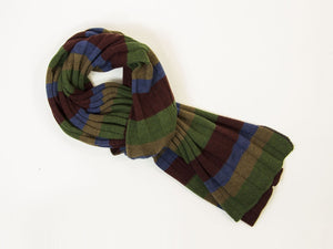 Multi Striped Wool Scarf