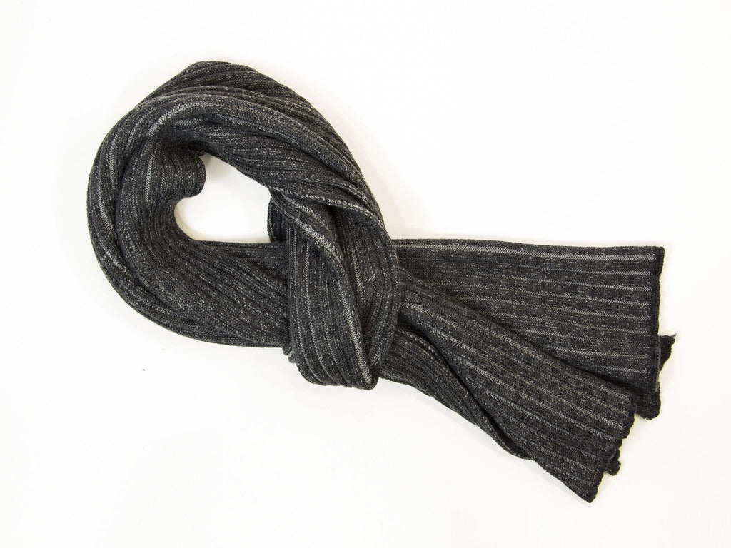 DOUBLE THREADED RIBBED WOOL SCARF
