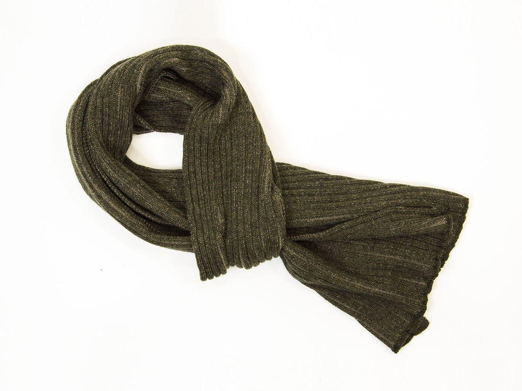 Doule Threaded Ribbed Wool Scarf