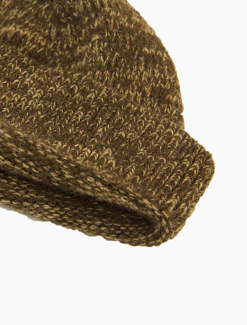 Brown Melange Wool & Cashmere Fisherman Beanie | 40 Colori