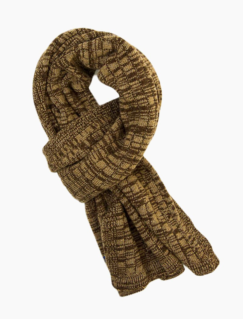 Brown Melange Wool & Cashmere Scarf | 40 Colori
