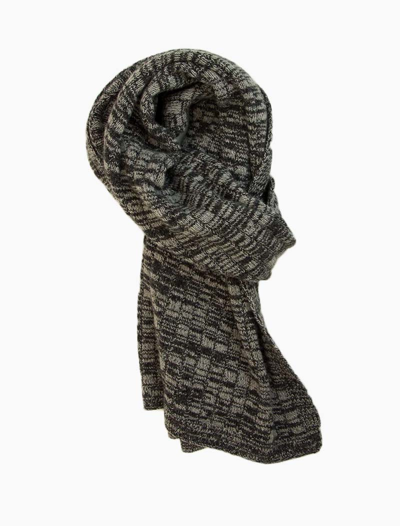 Charcoal Melange Wool & Cashmere Scarf | 40 Colori