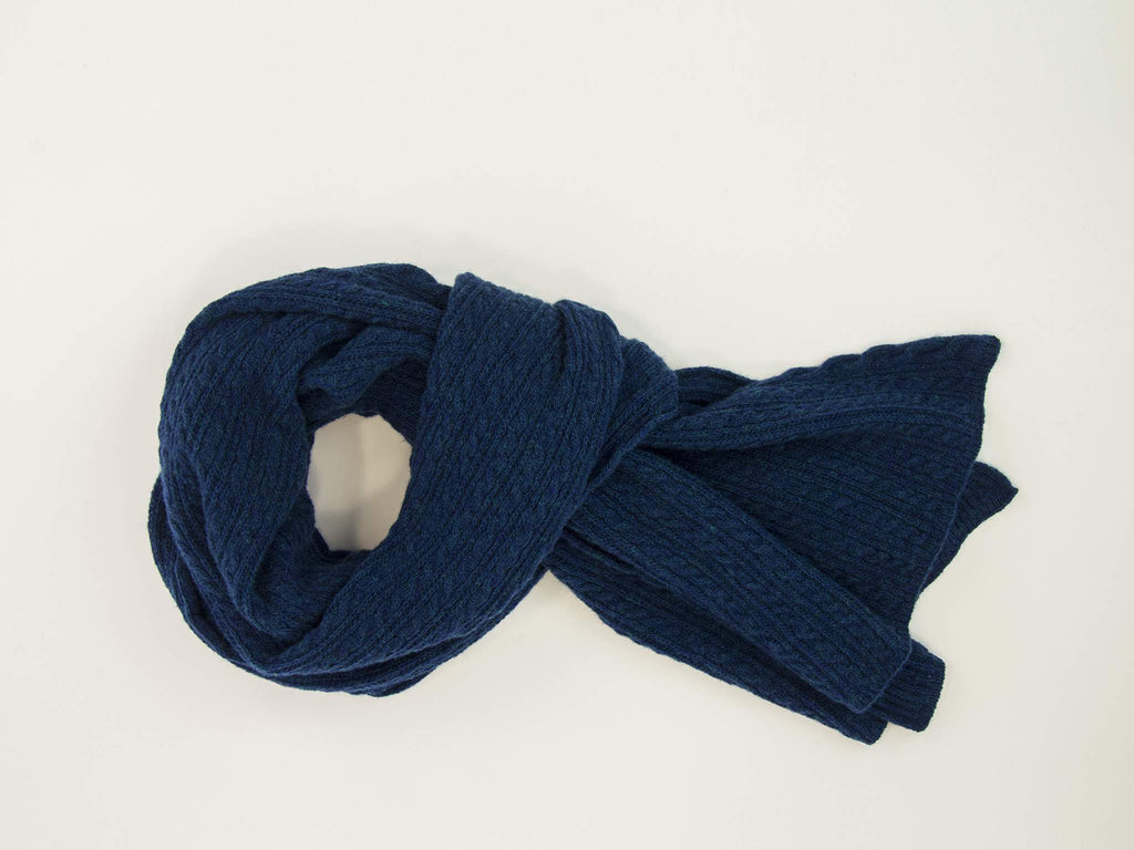 Small Braided Wool & Cashmere Scarf