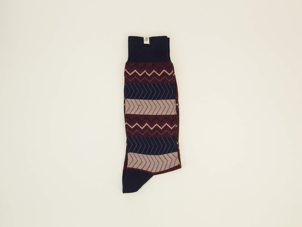 Zigzag Organic Cotton Socks