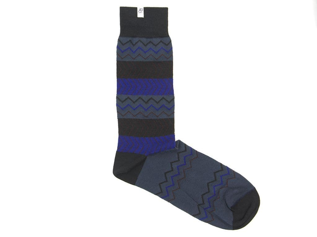 ZIG ZAG ORGANIC COTTON SOCKS