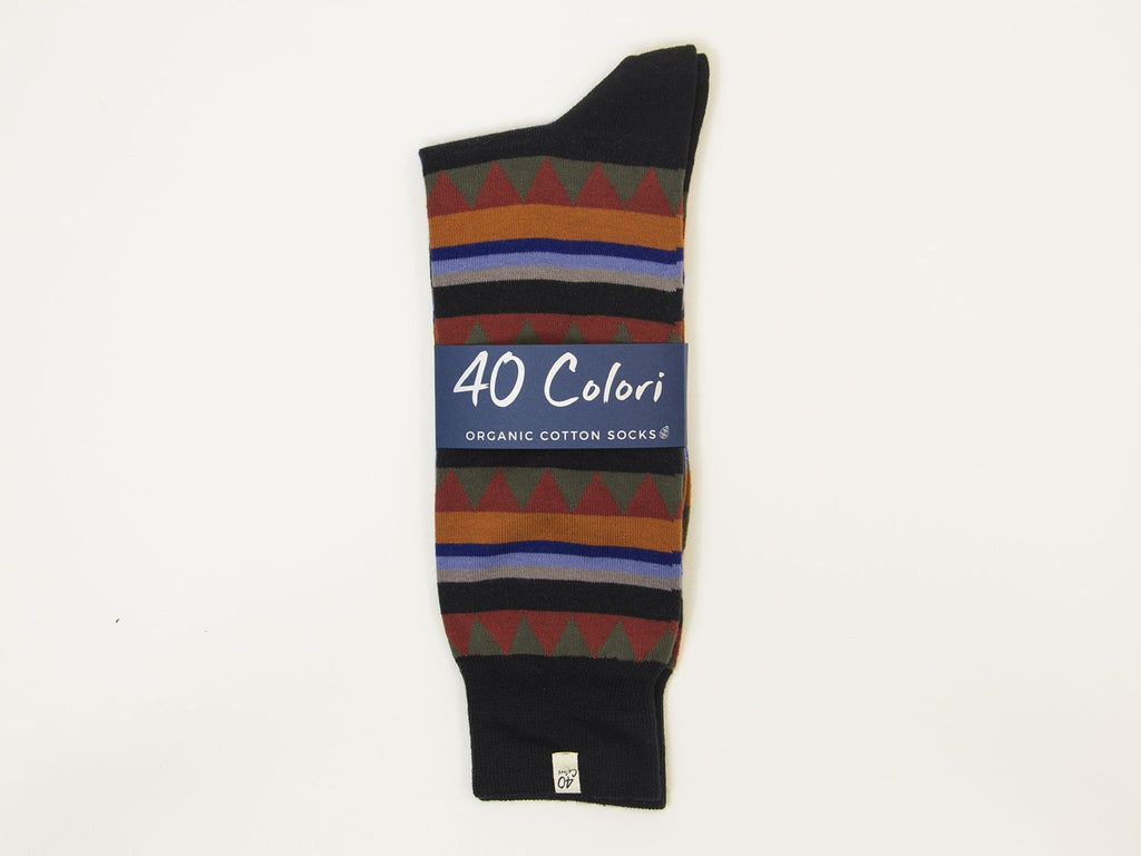 Fancy Striped Organic Cotton Socks
