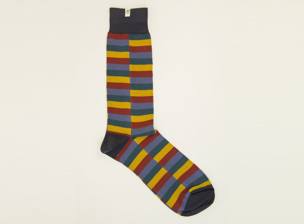 Split Stripes Organic Cotton Socks