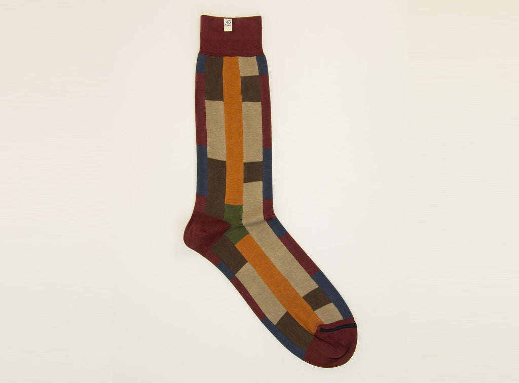 SQUARES & STRIPES ORGANIC COTTON SOCKS