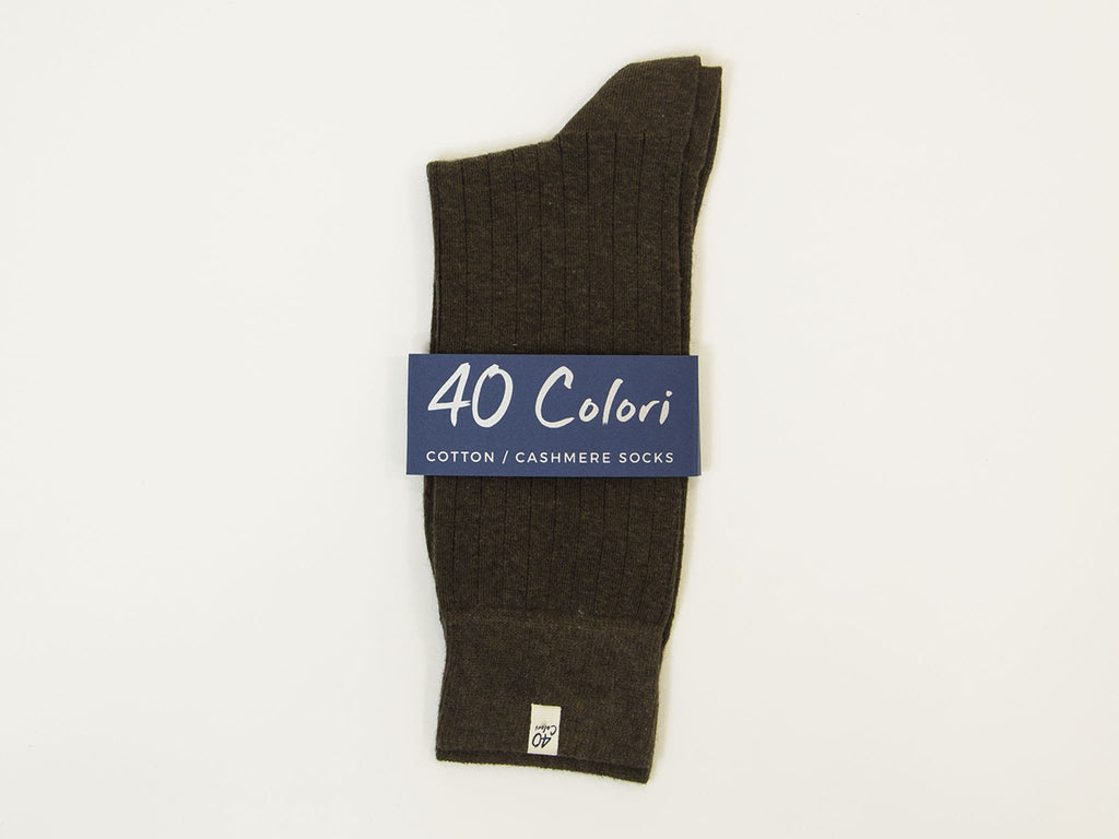 Solid Cashmere & Cotton Sock