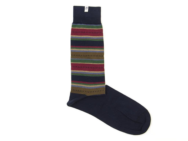 STRIPED ETHNIC ORGANIC COTTON SOCKS