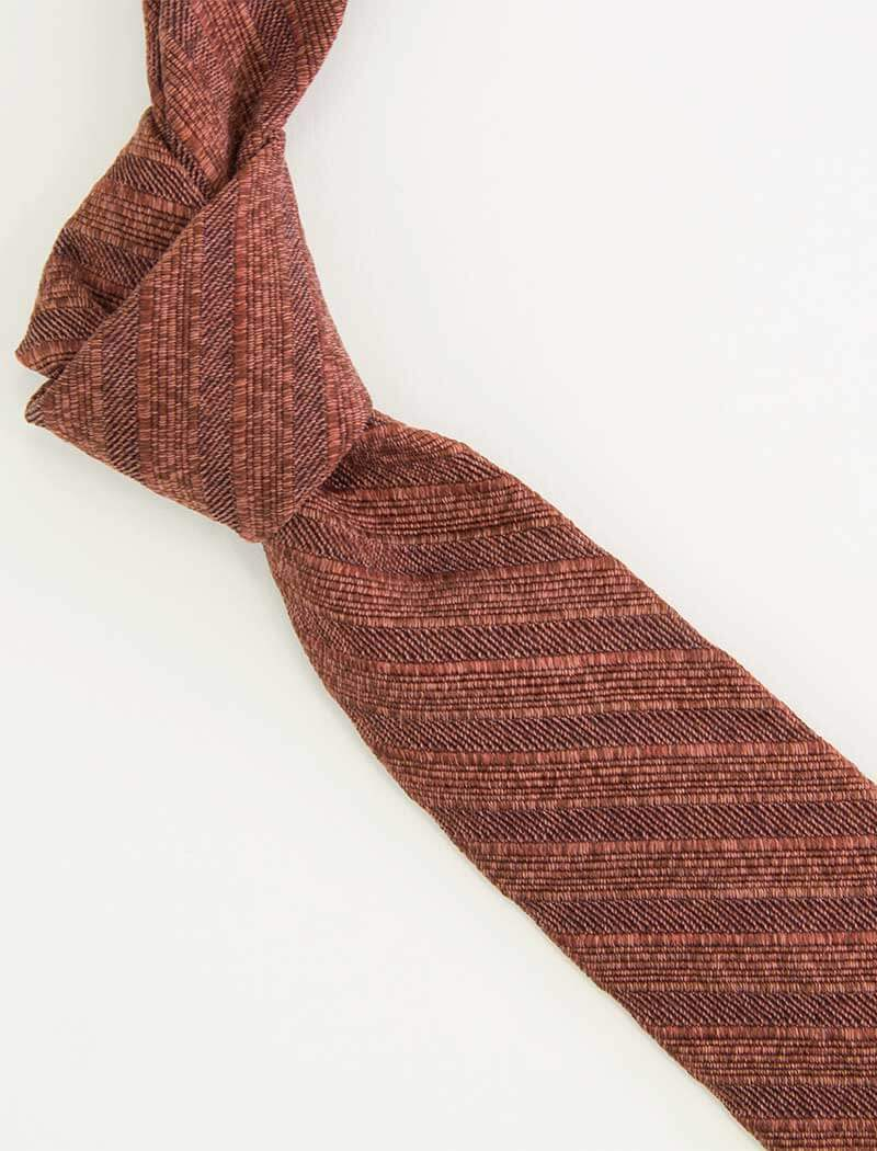 Multi Striped Washed Silk Tie