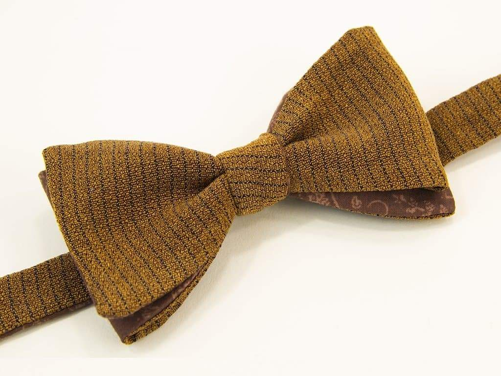 Melange Washed Silk Butterfly Bow Tie