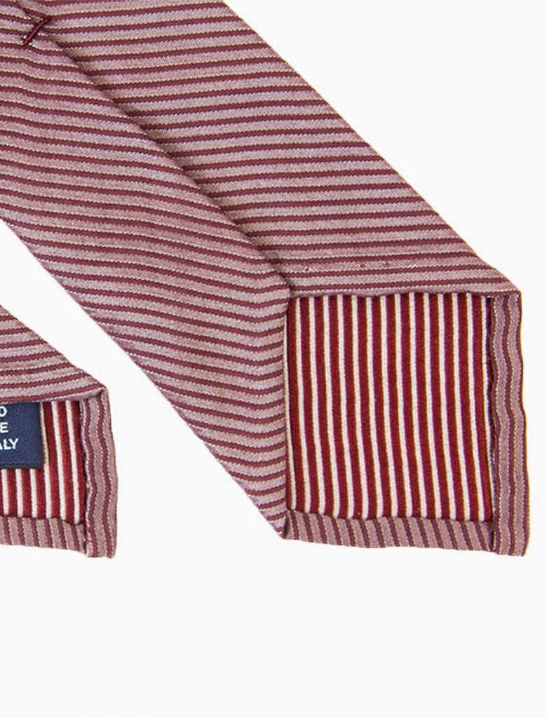 Small Striped Washed Silk Tie