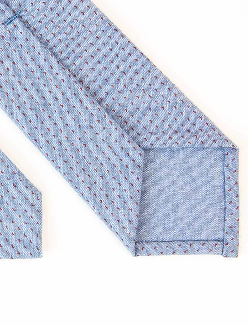 Dotted Denim Tie