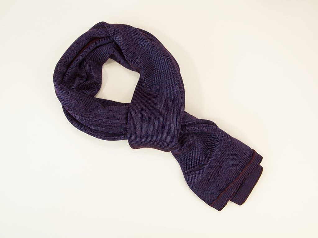 Melange Silk & Cotton Knitted Scarf