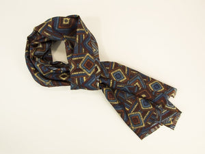 Diamond Bursts Printed Silk Scarf