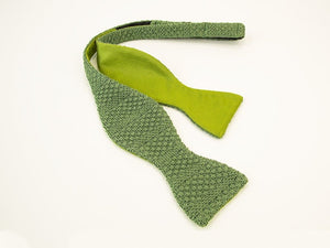 Solid Textured Striped Silk Knitted & Woven Butterfly Bow Tie