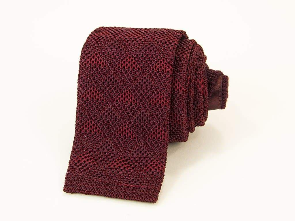 Diamonds Silk Knitted Tie