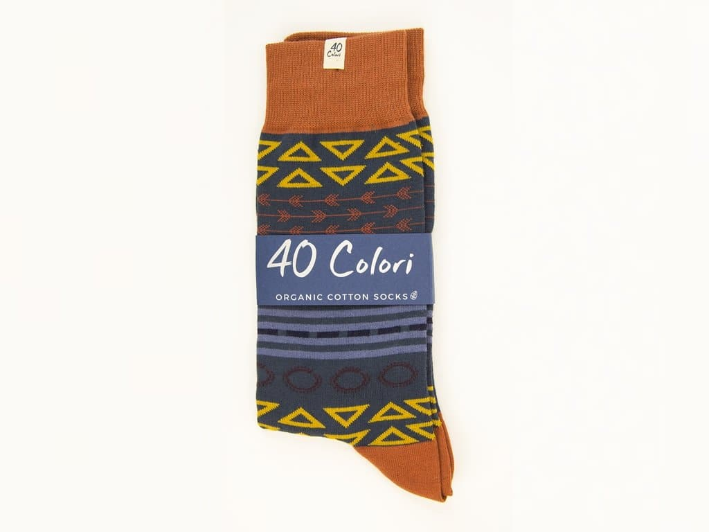 Geometric Striped Organic Cotton Socks