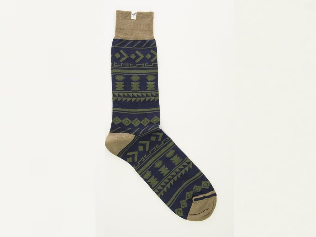 Tribal Striped Organic Cotton Socks