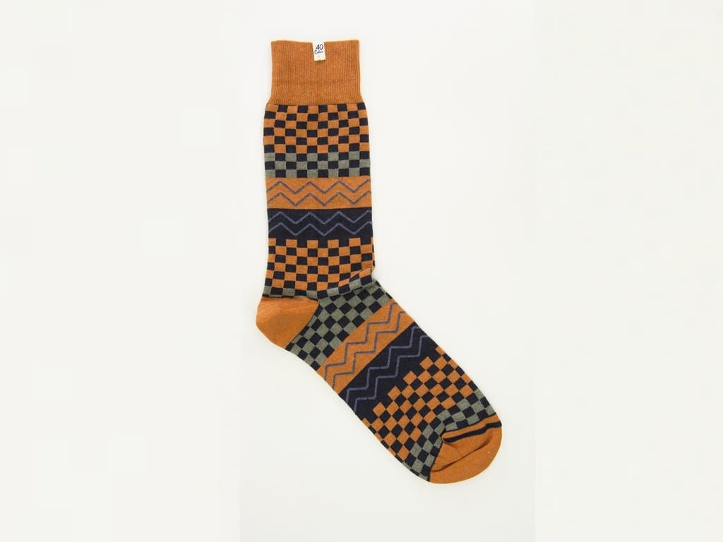 Squares & Waves Organic Cotton Socks