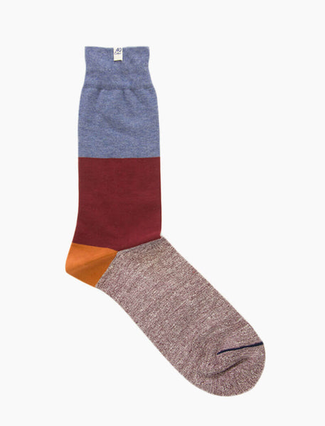 Striped Melange Linen & Organic Cotton Socks