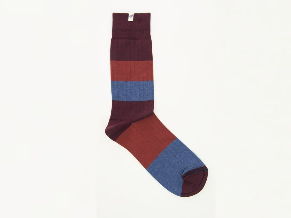 Ribbed Striped Melange Organic Cotton Socks