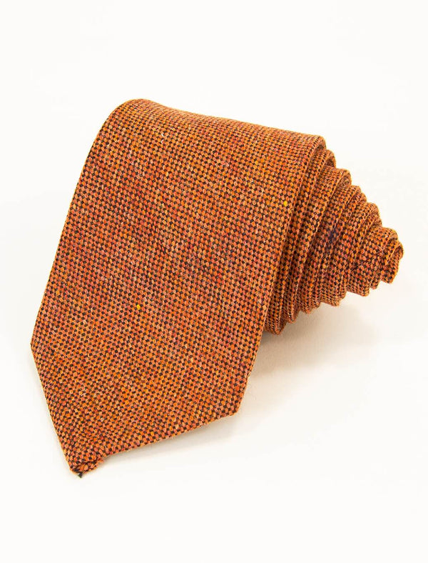 Orange Melange Wool & Silk Tie