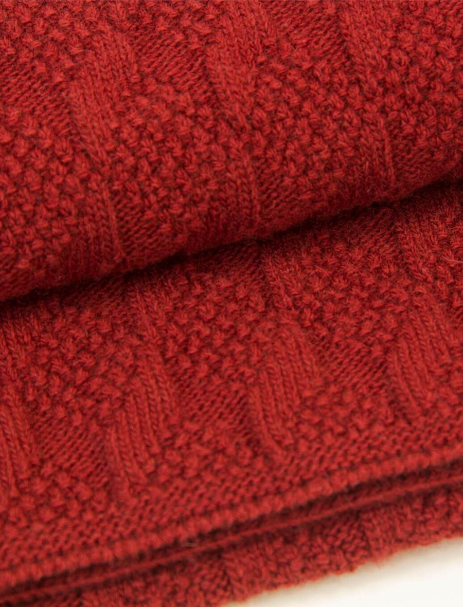 Red Rhombus Wool & Cashmere Scarf