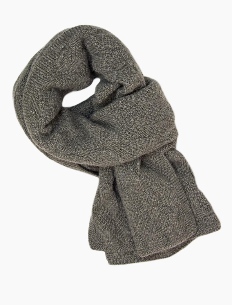 Taupe Rhombus Wool & Cashmere Scarf | 40 Colori